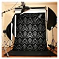 FUT 5x7ft Black Maple Leaf Vivid Pattern Vinyl Backdrop Background, 3-5 Business Days FAST Delivery Ideal for Studio Photography