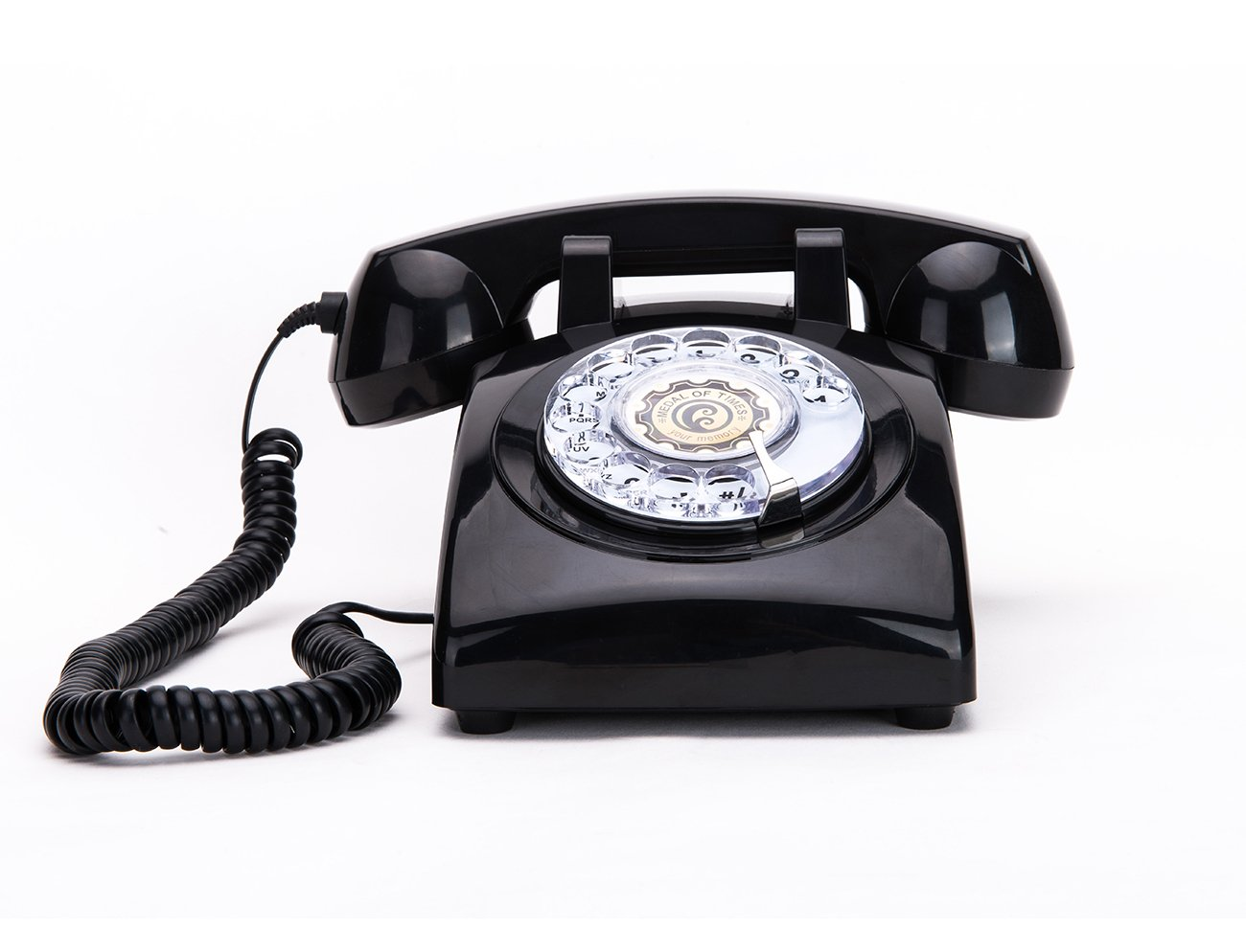 Rotary Dial Telephones Sangyn 1960'S Classic Old Style Retro Landline Desk Telephone,Black by Sangyn