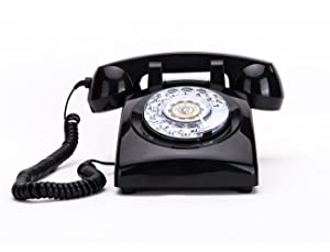 Rotary Dial Telephones Sangyn 1960'S Classic Old Style Retro Landline Desk Telephone,Black