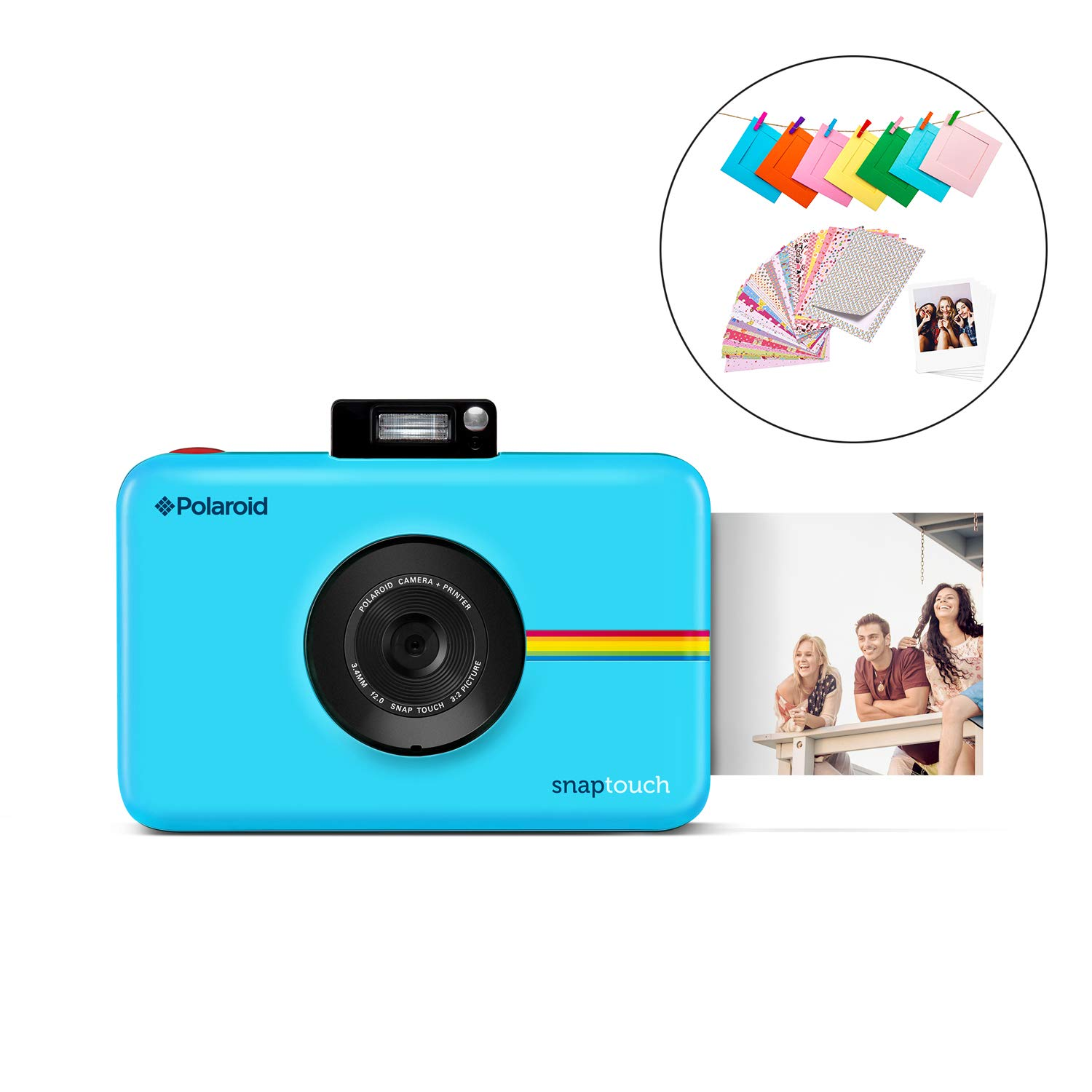 Polaroid SNAP Touch 2.0 - 13MP Portable Instant Print Digital Photo Camera w/Built-In Touchscreen Display, Blue by Polaroid