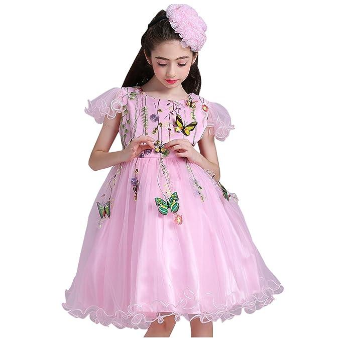Vestido Princesa Niña-Free Fisher Vestidos Dulces con Bordado Encaje ...