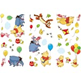 36 stickers Winnie l'ourson et ses amis repositionnables