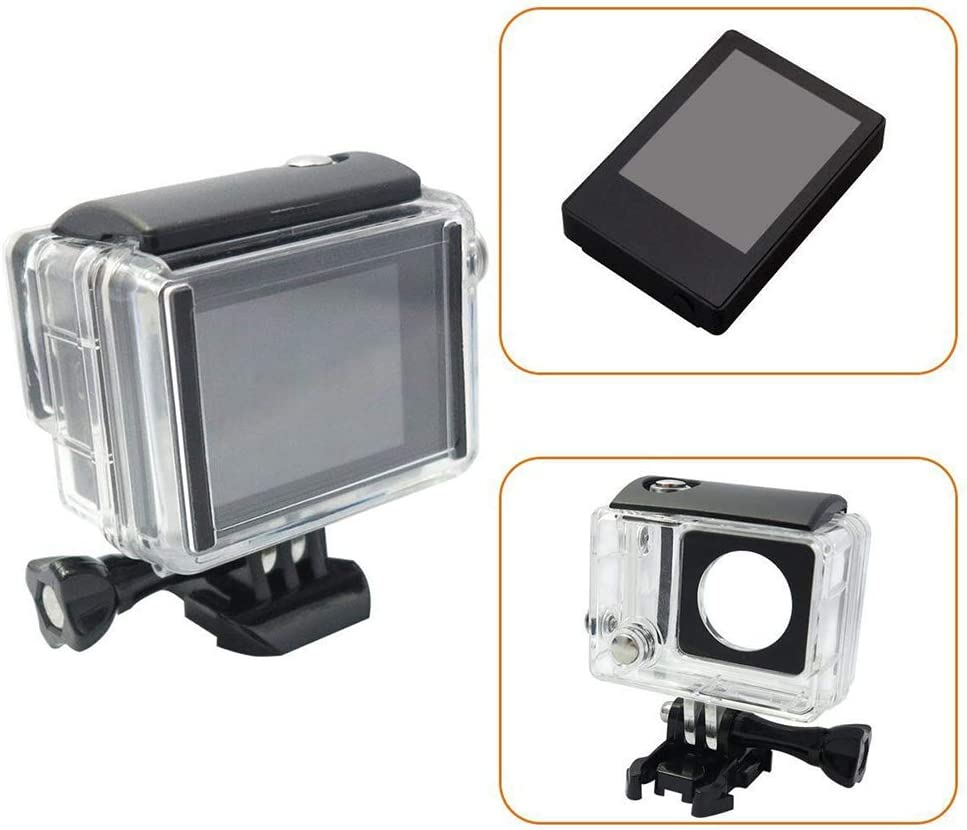 3 with Waterproof Housing Case Backdoor Black AkoMatial Portable 2.0 inch External Non Touch Screen LCD Monitor for GoPro Hero 4