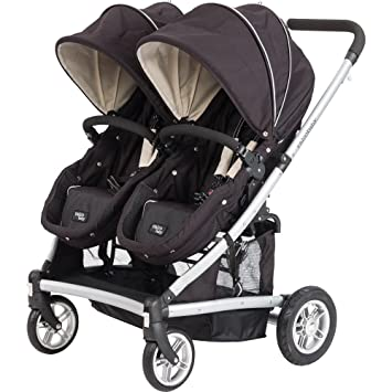 Amazon.com : Valco Baby Spark Duo Double-Stroller Blackout - 2012 ...