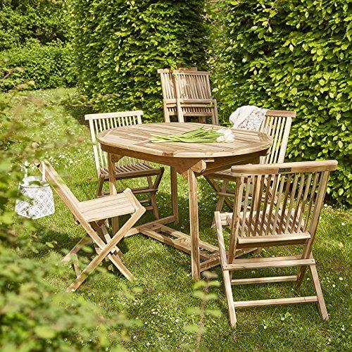 Salon de Jardin en Bois de Teck 6 /à 8 Places
