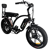 Addmotor MOTAN M-60 L7(R7) 48V 750 Watt Electric Beach Cruiser Bicycle For Adults 11.6Ah Lithium Battery 20 Inch Fat Tire Electric Bikes Mini Motobike With Throttle Pedal Assist 2019 Fit For Men Women