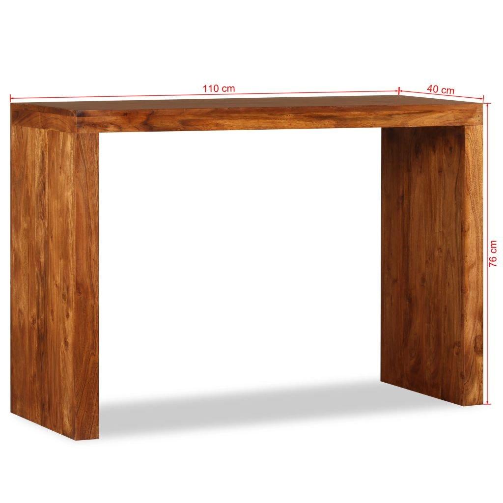 Home Innovation Table Console De Salle A Manger Extensible Jusqua