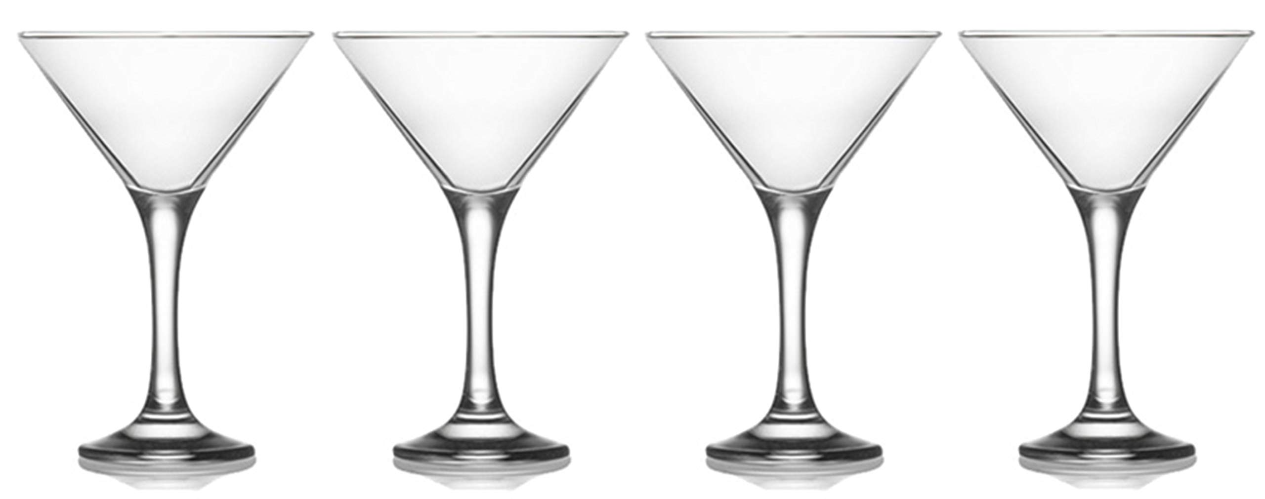 Epure Milano Collection 4 Piece Glass Set (Martini Glass (6 oz))