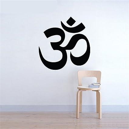 Amazon.com: Wall Sticker Quote Yoga Wall Vinilos Paredes Om ...