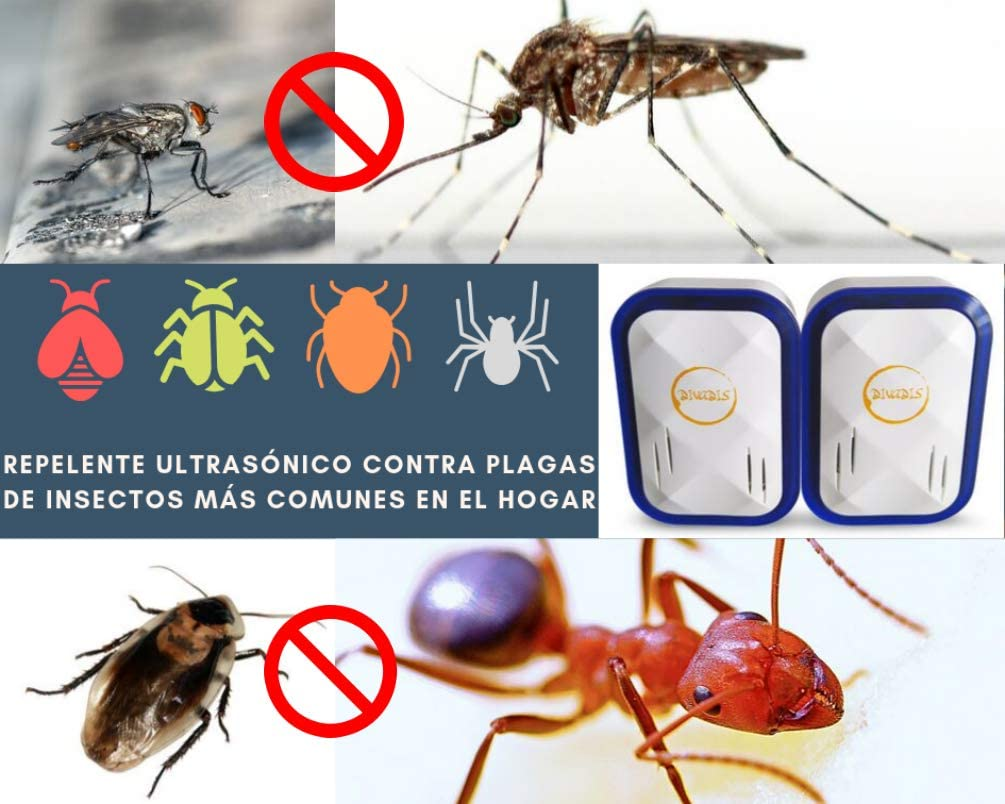 DIVADIS Repelente Ultrasónico Control de Plagas Roedores e ...