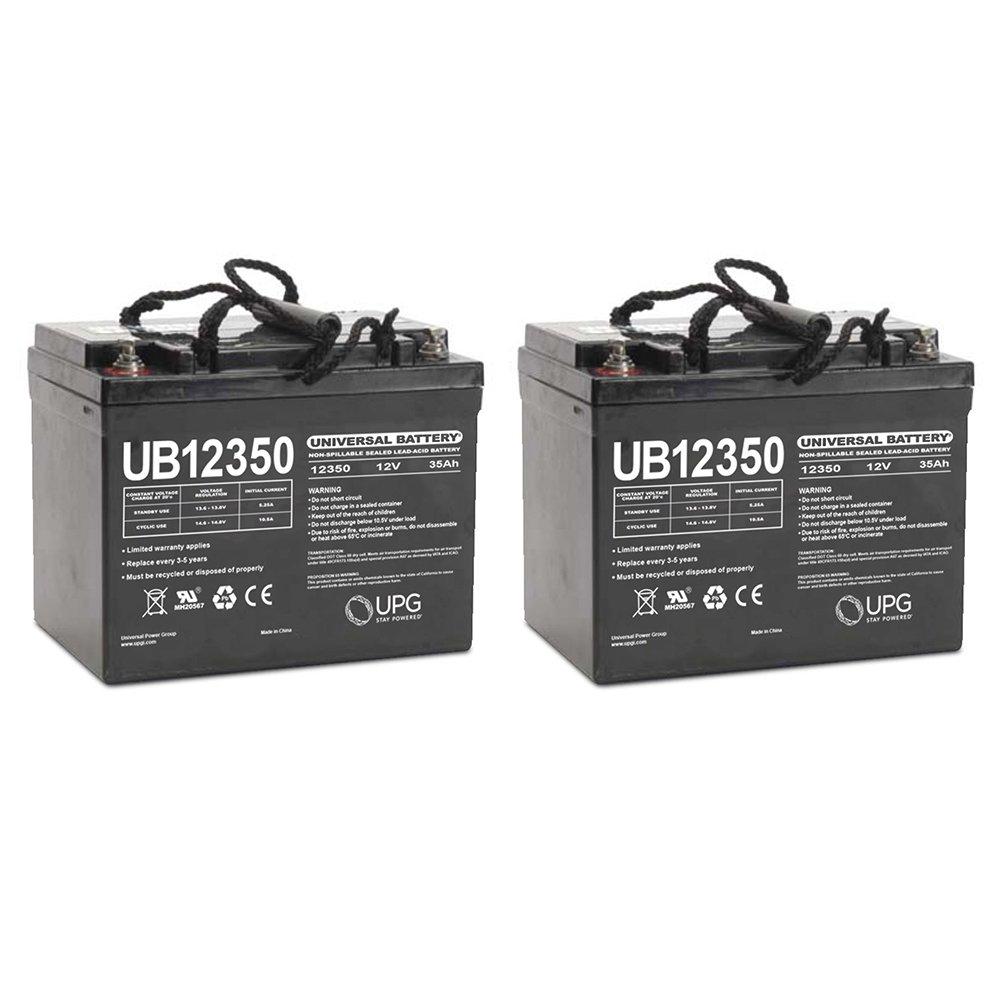 UB12350 12V 35AH Internal Thread Battery for E J MODEL 3V - 2 Pack by Universal Power Group