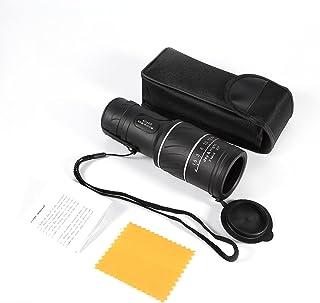 Nieoqar Telescopio Monocular 16 x 52 HD Monoculares Prismaticos con Tr/ípode y Clip Tel/éfono Night Vision and Daytime Telesc/ópico para Senderismo Caza Camping Observaci/ón de Las Aves