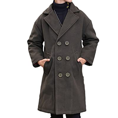 Sankt Boys' Double-breasted Peacoats Winter Thick Dress Coat