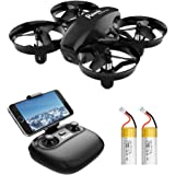 Potensic A20W Mini Drone with Camera for Kids, RC Portable Quadcopter 2.4G 6 Axis - Altitude Hold, Headless, Remote…
