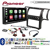 Volunteer Audio Pioneer AVH-2440NEX Double Din Radio Install Kit with Apple CarPlay, Android Auto and Bluetooth Fits 2003-2004 Infiniti G35 (Charcoal) (Dual zone A/C controls)