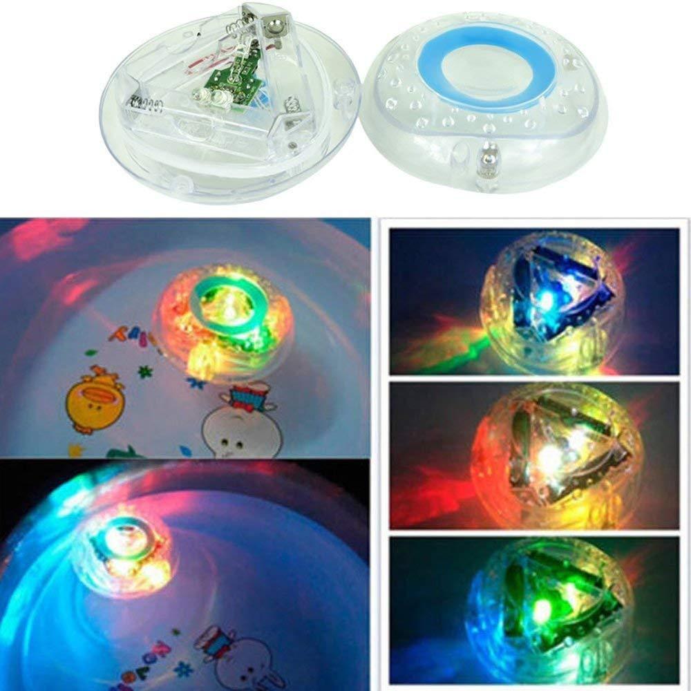 XINXUN 2Pcs Badewannenspielzeug Babyspielzeug LED Spielzeug, Kleinkindspielzeug Multi Colour Flashing Badezimmer Teich Pool Spa Whirlpool-Party-Nachtlicht