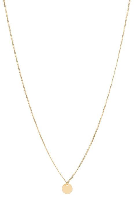 6bbf0a405759 Tom Shot - Collar mujer redonda colgante de oro - Cadena Oro plättchen  circular colgante dorado variable Cadena Longitud - 79 ke3312g  Amazon.es   Joyería