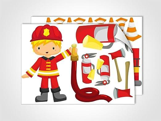 GRAZDesign 401007_2 Wandsticker Feuerwehrmann Sam | Wandtattoo mit ...