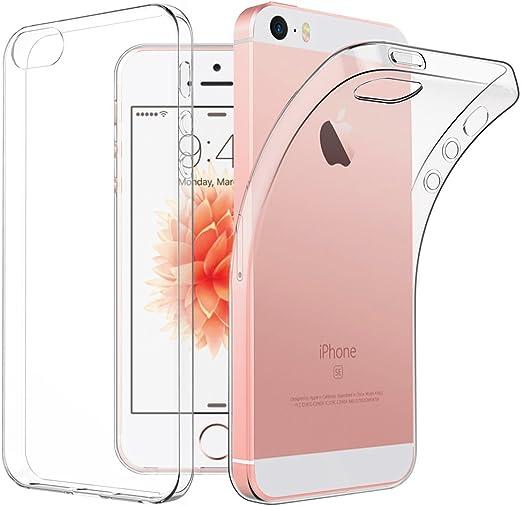 iPhone SE 5S 5 Case, EasyAcc Apple iPhone SE Soft TPU Case Crystal ...