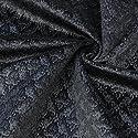 ベロアなサントマリー 広幅145cm 50cm単位 ベロア生地 ベロア モロッカン ダマスク柄 生地 (ブラック)