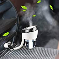 Car Air Humidifier Diffuser Essential Oil Aromatherapy Diffusers with Dual USB Charger Adapter, Ultrasonic Humidifier Air Refresher Purifier for Vehicle Automobile,Car Purifier Freshener(Black)