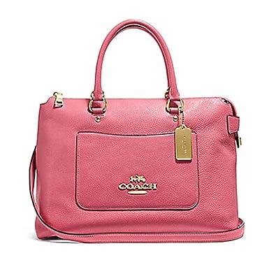 7c616cf89024 Amazon.com  COACH F31467 Emma Satchel Peony Pink Leather Crossbody  Shoes