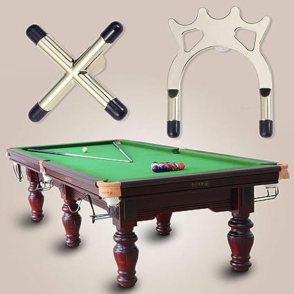 LIOOBO Snooker Billar Cue Rack Puente Cabeza Tenedores Cruzados Barra Pool Cue Stick Holders Mesa de Billar Accesorio: Amazon.es: Deportes y aire libre