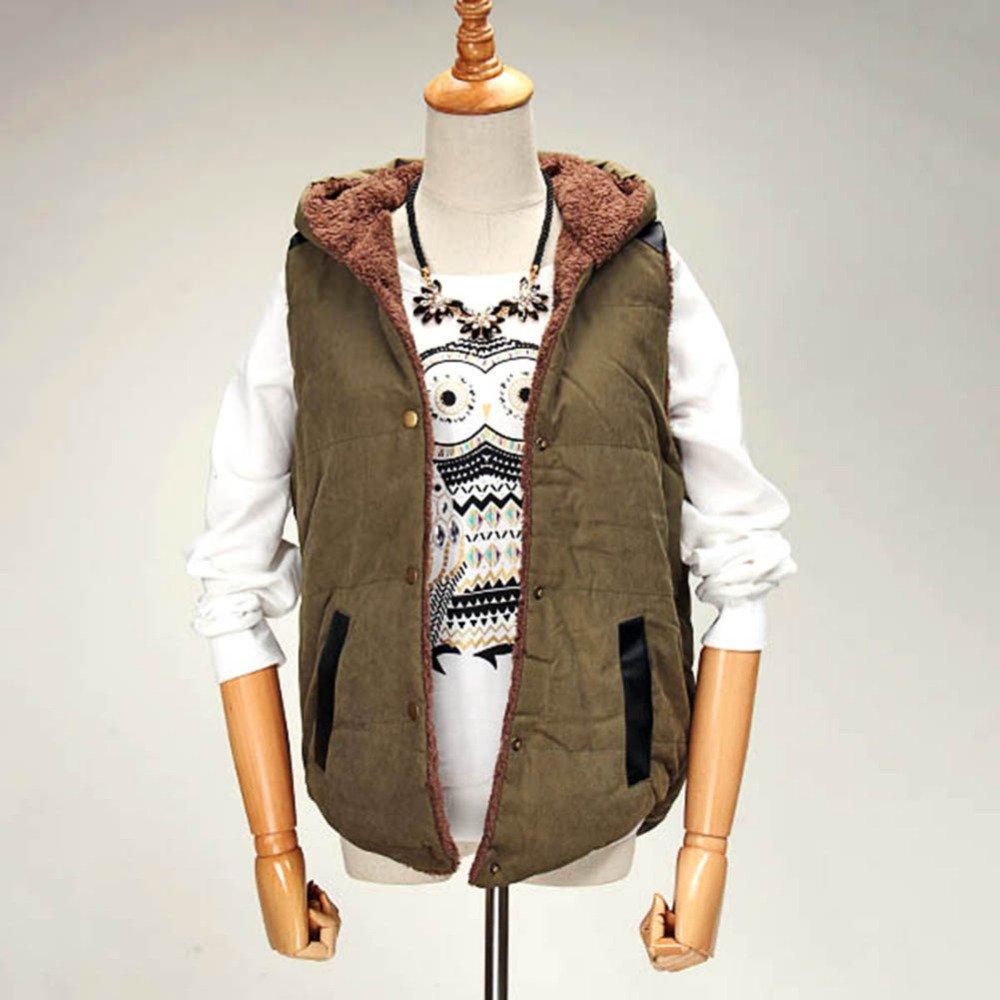Autumn Winter Plus size slim plus velvet vest thermal down cotton with a hood