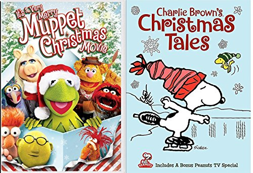 Charlie Brown's Christmas Tales Snoopy & Gang DVD + It's a Very Merry Muppet Christmas Movie Holiday Peanuts Double Feature Set -