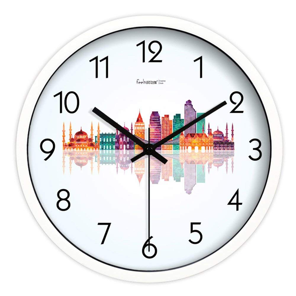 CWJ Clock- Wall Clock Metal Simple Personality Quiet Clock Creative Home Decoration Hanging Table Mute The Clock Living Room Bedroom Wall Clock Quartz Watches Wall Decoration Artwork,10 I