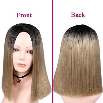 Amazon Com Pink Bob Wigs Short Haircut Shoulder Length