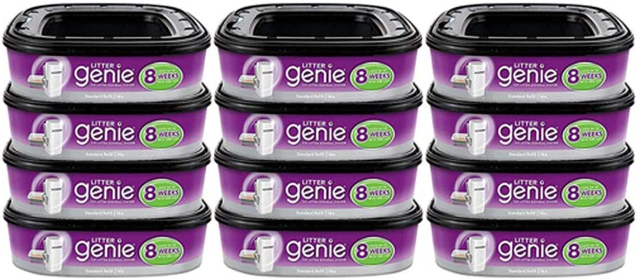 4 Pack Litter Pail System Refills Bags 14 Feet Each,Up to 8 Weeks per Cartridge