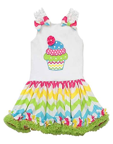 0cea8a56d Amazon.com  Rare Editions Jumping Fences Girls 2T-4T White Rainbow ...