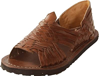 203e20feecbf Premium Pachuco Men s Mexican Style Huarache Sandals - Brown (US ...