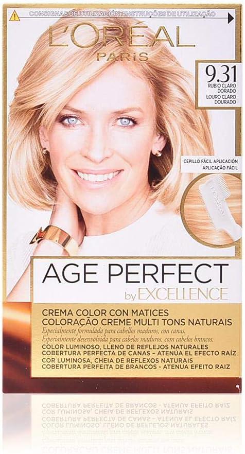 EXCELLENCE Age perfect tinte Rubio Claro Dorado Nº 9.31 caja ...