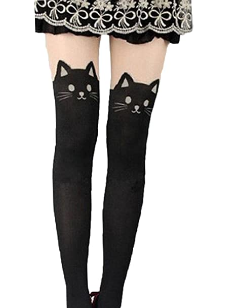31bdcab44 Kitten Print Knee High Length Socks CAT Tail Tattoo Tights Pantyhose  Stockings: Amazon.ca: Clothing & Accessories