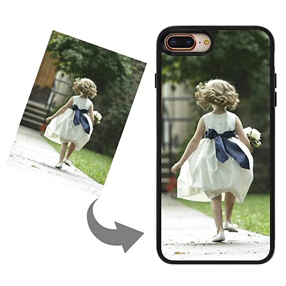 official photos edbcd dc139 Customize Your Own Phone Case - Personalized Photo/Text/Logo Back Cover  Case for iPhone 7 Plus/8 Plus,Birthday/Xmas/Valentines Gift for Her and Him