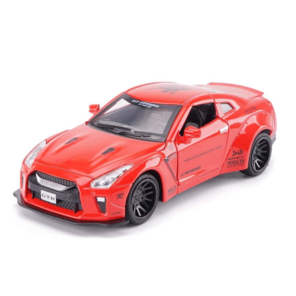 Red Model Car Nissan GTR Car Model 1 32 Scale Model Die-Casting Model Alloy Model Static Model Decoration Gift Decoration (color   Red)