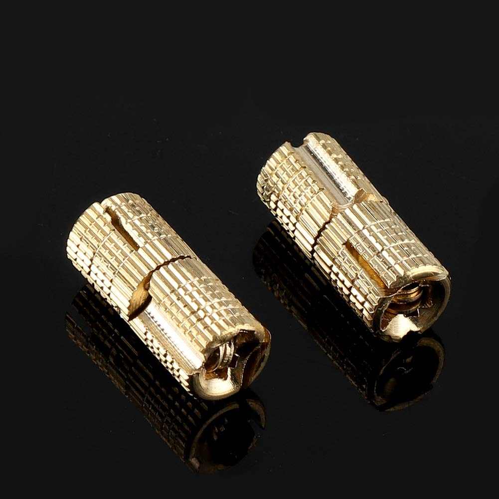 Dolls House Lightweight Caravan and DIY Projects 4Pcs//Pack 8mm Dia Premium Copper Hinge with Concealed-Cylinder 180/° Opening for Jewellery Box Gold Copper Hinges