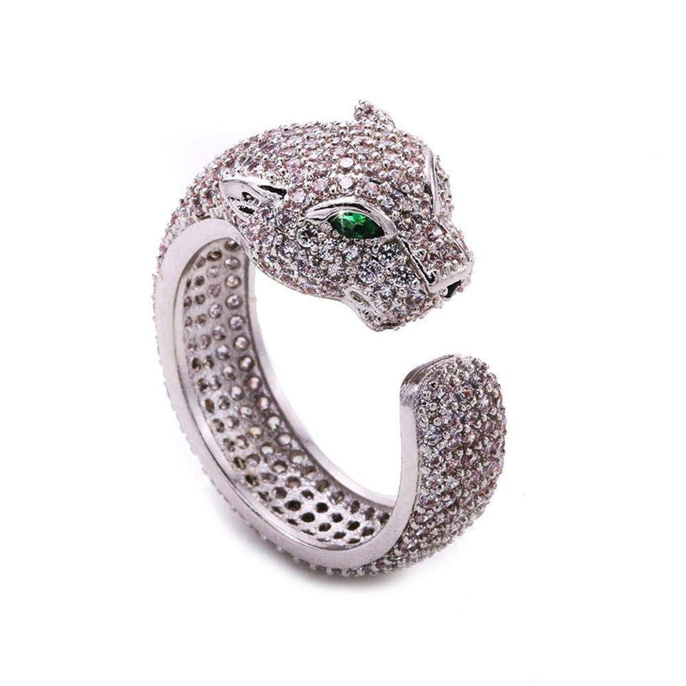 Weiwei Men Ring Rings Open Diamond Brass Ring Plating Anti Allergy Ring Send Family Friend Birthday Present 17mm
