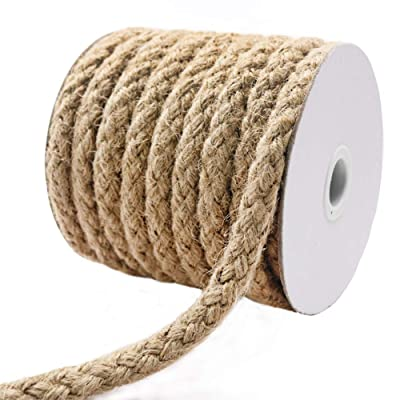 Tenn Well Braided Jute Rope, 25 Feet 11mm Thick Jute Cord for Crafting, Cat Scratching, Gardening, Bundling and Macrame Projects: Office Products [5Bkhe1501440]