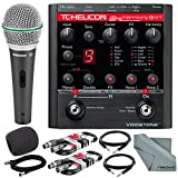 TC-Helicon VoiceTone Harmony-G XT Guitar & Vocal Harmony Pedal and Deluxe Accessory Bundle w/ Samson Q6 Mic + Fibertique Cloth + 3X XLR Cable + 2X 1/4'' TRS Cable