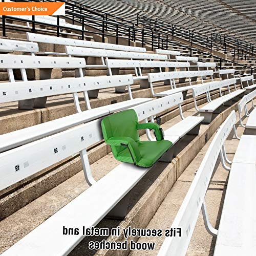 Werrox Extra Wide Padded Foldable Stadium Chair Bleacher Cushion Armrest Carry Straps | Model CHRCSHN - 219 | ()