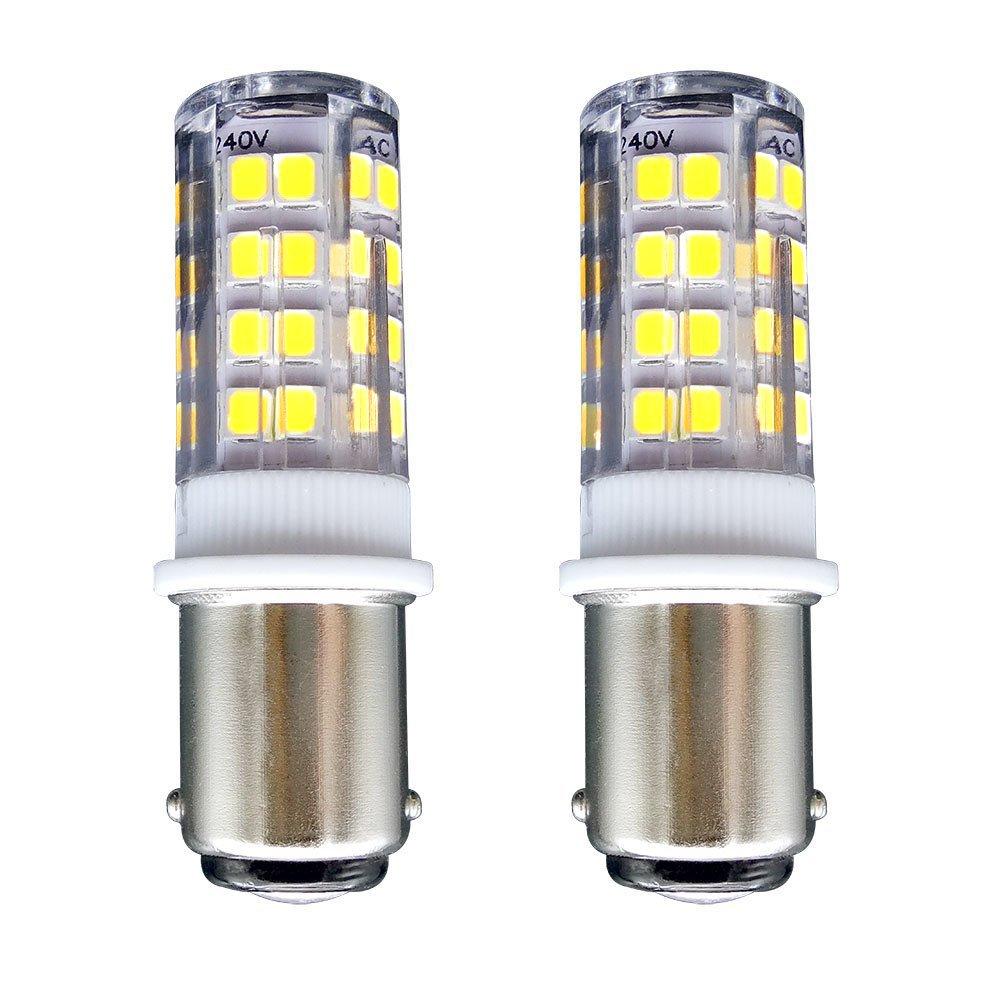 ... Fresco 6000K-400 Lúmenes-Equivalente a lámpara Halógena de 35W Doble Bayoneta B15 LED Luz para Máquina de Coser/Aparato Lámparas: Amazon.es: Hogar