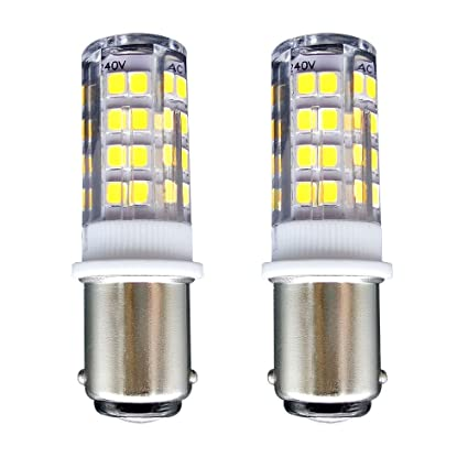B15 Bombilla[2 unidades]SFTlite SBC Ba15D 4W LED Bombilla Blanco Fresco 6000K-400 Lúmenes-Equivalente a lámpara Halógena de 35W Doble Bayoneta B15 LED Luz ...