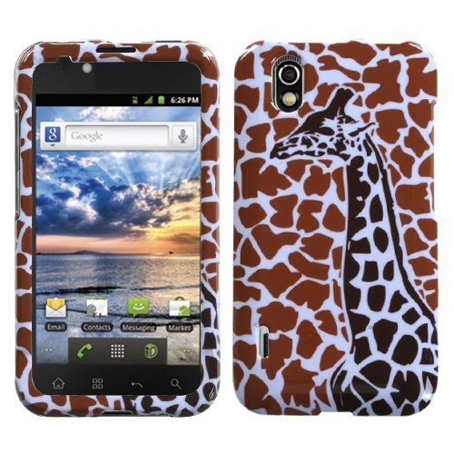 Giraffe Faceplate - Brown Giraffe Single Phone Protector Faceplate Cover For LG LS855(Marquee)