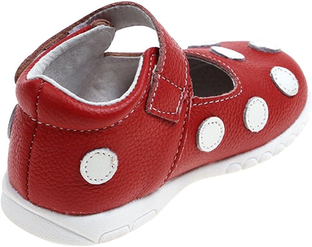 Tortor 1Bacha Kid Girl Polka Dot Leather Flat Shoes Mary Jane Toddler//Little Kid