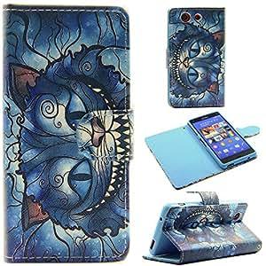 [Sony Xperia Z3 Mini],Sony Z3 Mini Case,Canica Skin Case [Stand] Sony Xperia Z3 Mini PU [Wallet Case] Leather Case with Card Slots for Sony Xperia Z3 Mini #16