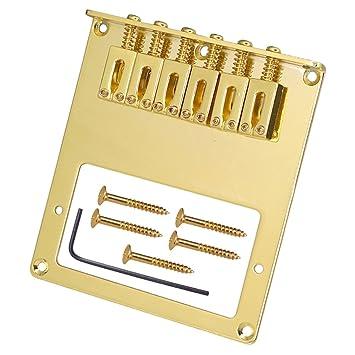 Jili en línea instrumento musical 6 silletas para puente fijación para FD tele guitarra eléctrica partes de oro: Amazon.es: Instrumentos musicales