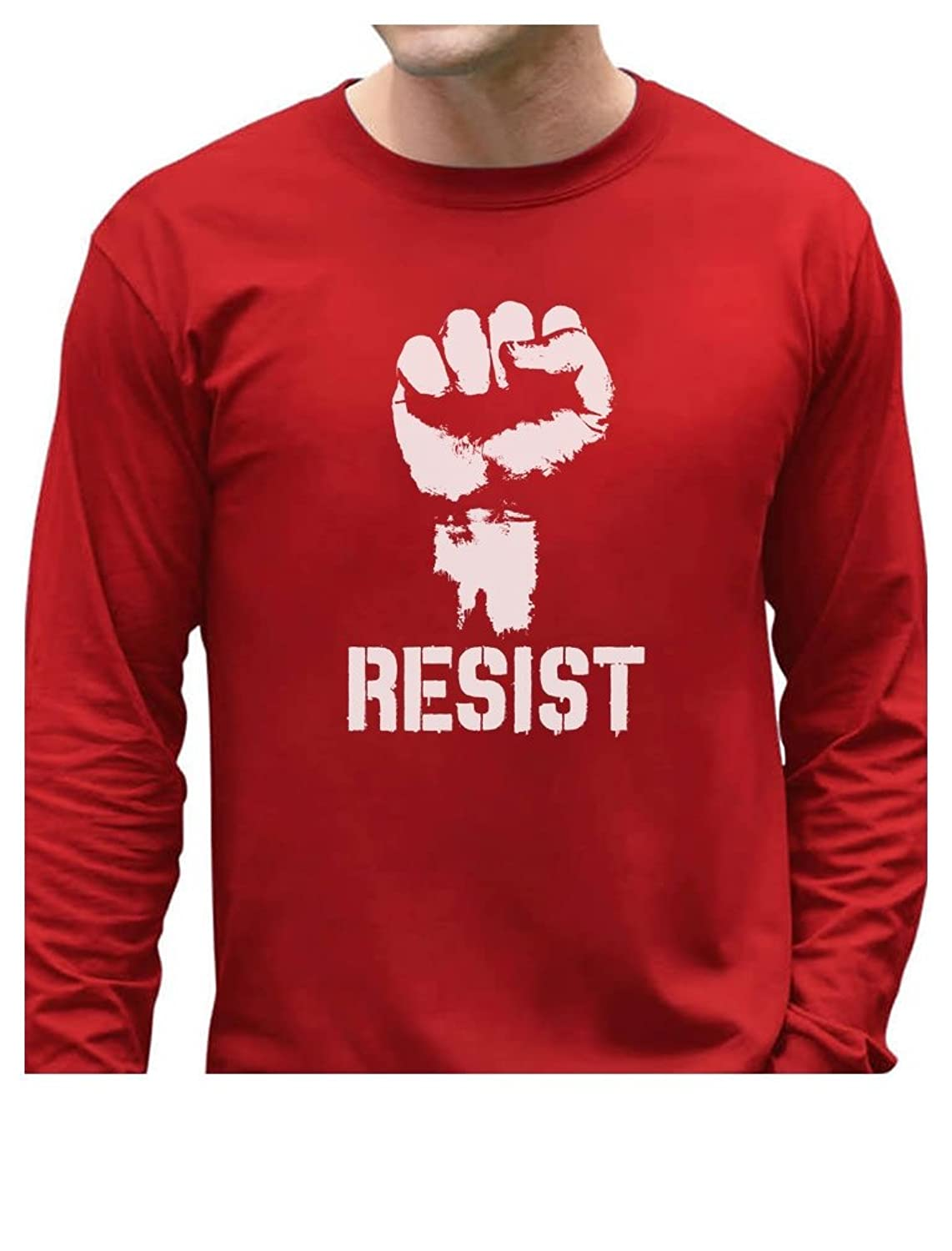 Resist Political Anti Protest Power Fist Anti Trump Long Sleeve T-Shirt